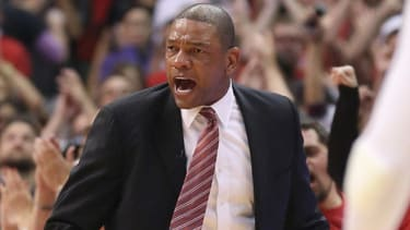L.A. Clippers coach Doc Rivers gets emotional after Game 7 win
