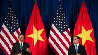 President Obama discusses the death of the Taliban leader from Vietnam