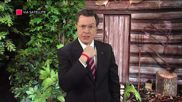Stephen Colbert, conservative pundit, mourns the down fall of his Fox News hero