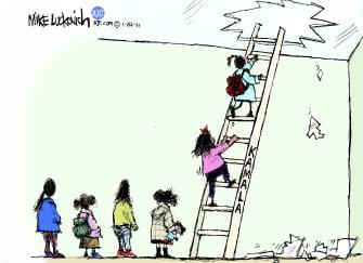 Political Cartoon U.S. kamala harris vp