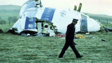 The wreckage of Pan Am Flight 103.