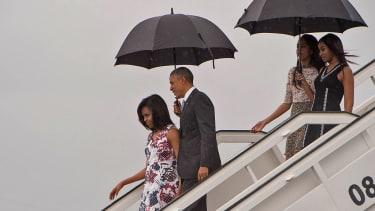 The Obama family.