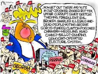 Political Cartoon U.S. Trump Georgia voting
