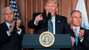 President Trump, Vice President Trump and EPA head Scott Pruitt.