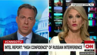 Jake Tapper and Kellyanne Conway on CNN