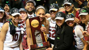 South Carolina Gamecocks celebrate their NCAA championship win