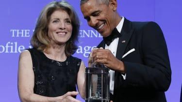 Caroline Kennedy and former President Barack Obama.