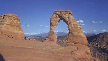 A sandstone rock formation in Utah