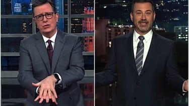 Stephen Colbert and Jimmy Kimmel on Trump and coronavirus