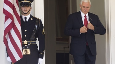 Pence on the move.
