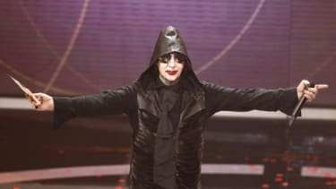 Proof Marilyn Manson is human: He got the flu.