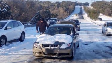 Stranded motorists in Austin.