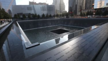 The 9/11 memorial in New York features a tree-covered plaza with giant memorial pools surrounded by the victims' names: Some critics say the design fails to live up to what America lost on Se