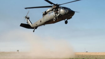 A Blackhawk helicopter.