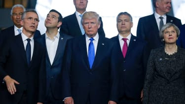 President Trump and NATO leaders.