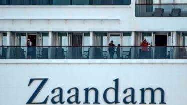 Passengers on board the Zaandam.