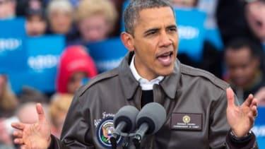 President Obama speaks in Green Bay, Wis., on Nov. 1