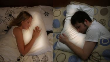 If your significant other is far away, try turning to a pillow that pulses with a gentle glow of your distant lover's heartbeat.