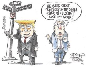 Political Cartoon U.S. mcconnell trump impeachment
