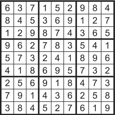 Sudoku solution