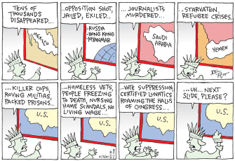 Editorial Cartoon U.S. america world problems