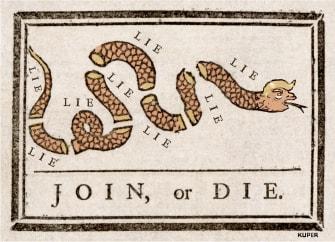 Political Cartoon U.S. Trump GOP Join or Die