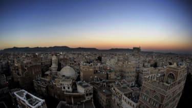 The view of Sanaa, Yemen.