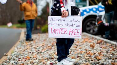 Pro-Trump protester