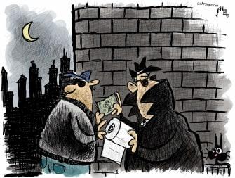 Editorial Cartoon U.S. toilet paper deal coronavirus grocery lines
