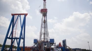A drill site in Pennsylvania: Deep underground drilling for oil and natural gas may be putting stress on fault lines and contributing to the rise of earthquakes.