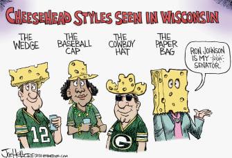 Political Cartoon U.S. ron johnson wisconsin packers