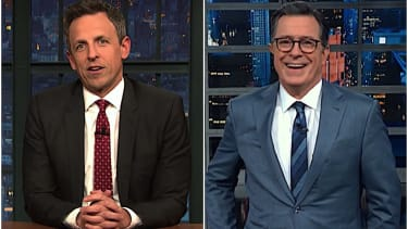 Stephen Colbert and Seth Meyers on Trump and impeachment