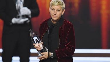 Ellen DeGeneres accepts an award in 2017.
