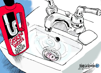 Political Cartoon U.S. Georgia senate runoff McConnell