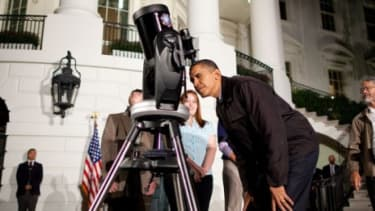 Keeping an eye out for aliens, President Obama? Conspiracy theorists believe the feds are still hiding information about extraterrestrial life, even after a statement from the White House den