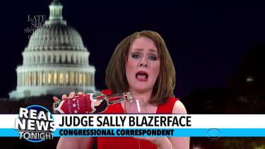 Stephen Colbert pokes fun at Judge Jeanine Pirro