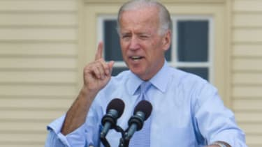 """Vice President Joe Biden speaks at a campaign event on Sept. 7 in Portsmouth, N.H.: Biden might be able to outdo Ryan if he calls the congressman out on his budget math, and brings up the """"un"""