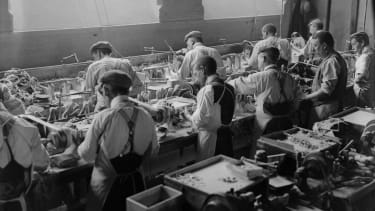 A button factory in 1909