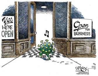 Editorial Cartoon U.S. coronavirus reopening
