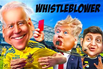 Political Cartoon U.S. Trump Whistleblower Joe Biden Ukraine