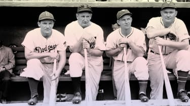 Members of the 1942 All-Star team.