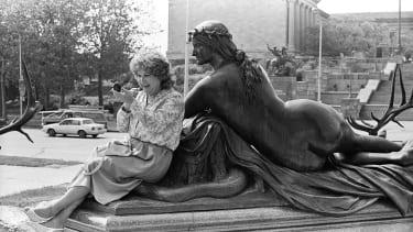 Alison at the Philadelphia Museum of Art.