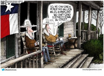 Editorial Cartoon U.S. mars rover texas electricity