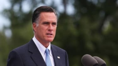 Mitt Romney speaks in New Hampshire on July 20: Romney's campaign quickly disavowed a comment made by an anonymous adviser that seemed to paint President Obama as out of touch with the U.S.-B