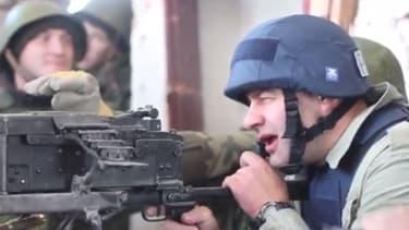 Russian action star fires machine gun at Ukraine