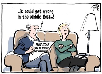 Editorial Cartoon U.S. Middle East US Strike Iran News