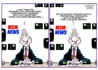 Editorial Cartoon U.S. mainstream media RNC