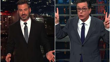 Stephen Colbert and Jimmy Kimmel mock Donald Trump Jr.