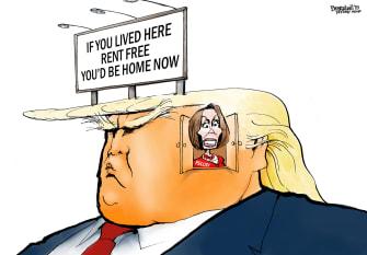 Political Cartoon U.S. Trump Nancy Pelosi impeachment