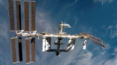 The International Space Station takes about 90 minutes to orbit the earth.